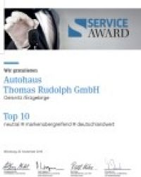 Top Ten beim Service Award